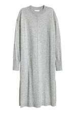 Fine-knit dress - Grey marl - Ladies | H&M CN 2