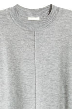 Fine-knit dress - Grey marl - Ladies | H&M CN 3