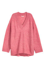 Knitted jumper - Pink marl - Ladies | H&M GB 2
