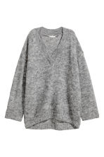 Knitted jumper - Grey marl - Ladies | H&M GB 2