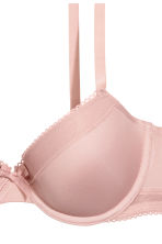 Padded microfibre bra - Old rose -  | H&M 4