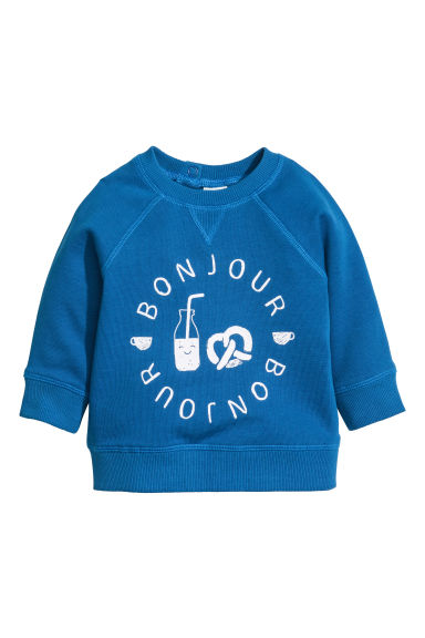 Printed sweatshirt - Cornflower blue - Kids | H&M CN 1