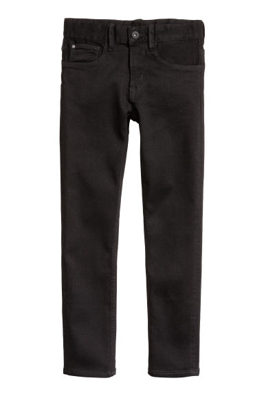 Skinny Fit Generous Size Jeans - Zwart - KINDEREN | H&M BE 1