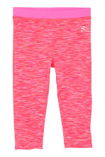3/4-length sports tights - Coral marl - Kids | H&M CN 2