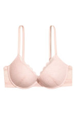 Lace push-up bra - Light pink - Ladies | H&M CN 2