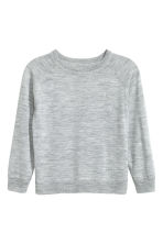 Fine-knit merino wool jumper - Grey marl -  | H&M CN 2