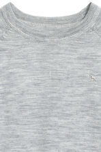 Fine-knit merino wool jumper - Grey marl -  | H&M CN 3