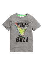 Printed T-shirt - Grey/Skateboard - Kids | H&M CN 2