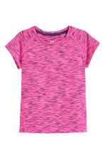Sports top - Cerise marl - Kids | H&M CN 1