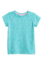 Sports top - Turquoise marl - Kids | H&M CN 2