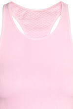Seamless running vest - Light pink - Ladies | H&M CN 3