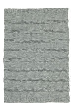Chunky-knit blanket - Grey - Home All | H&M CA 3
