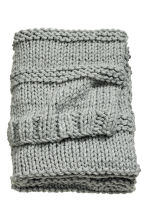 Chunky-knit blanket - Grey - Home All | H&M CA 2