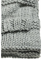 Chunky-knit blanket - Grey - Home All | H&M CA 4