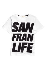 Printed T-shirt - White/San Francisco - Kids | H&M CN 2