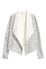 Pile-lined cardigan - Grey marl - Kids | H&M CN 2