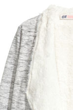 Pile-lined cardigan - Grey marl - Kids | H&M CN 3
