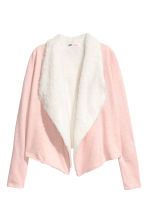 Pile-lined cardigan - Light pink marl - Kids | H&M CN 2