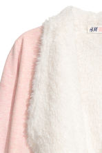 Pile-lined cardigan - Light pink marl - Kids | H&M CN 3