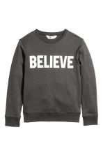 Printed sweatshirt - Dark grey -  | H&M CN 2