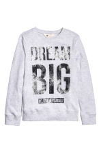 Printed sweatshirt - Light grey - Kids | H&M CN 2