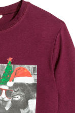 Printed sweatshirt - Burgundy - Kids | H&M CN 3