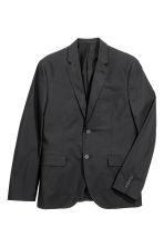 Jacket in cotton poplin - Black - Men | H&M CN 2