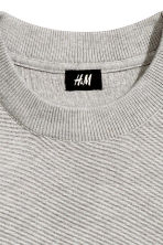 Jumper in a textured knit - Grey - Men | H&M CN 4