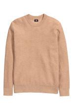 Jumper in a textured knit - Light camel - Men | H&M CN 2