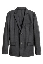 Blazer in misto lana Slim fit - Grigio scuro - UOMO | H&M IT 2