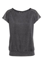 Sports top - Dark grey marl - Ladies | H&M CN 2