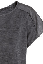 Sports top - Dark grey marl - Ladies | H&M CN 3