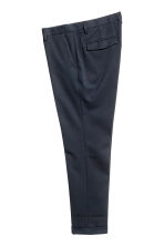 Cropped suit trousers - Dark blue - Men | H&M CN 2