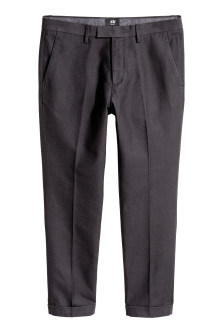 Pantalon de costume court