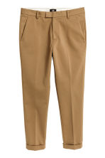 Cropped suit trousers - Dark beige - Men | H&M CN 2