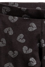 Jersey leggings - Black/Heart - Kids | H&M CN 3