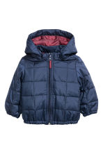 Quilted jacket - Dark blue - Kids | H&M CN 1
