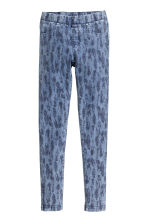 Treggings - Denim blue/Feathers - Kids | H&M CN 2