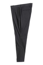 Suit trousers in cotton poplin - Black - Men | H&M CN 2