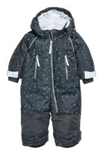 All-in-one suit with a hood - Dark grey/Patterned - Kids | H&M CN 1