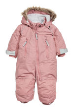 All-in-one suit with a hood - Old rose - Kids | H&M CN 1