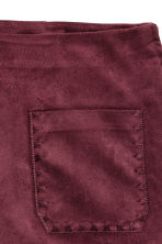 Imitation suede shorts - Burgundy - Ladies | H&M CN 5