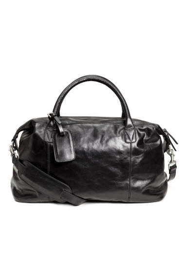 Leather weekend bag - Black -  | H&M 1