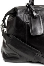 Leather weekend bag - Black -  | H&M 3