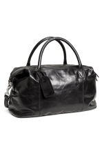 Leather weekend bag - Black -  | H&M CN 2