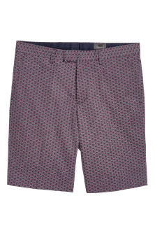 Patterned city shorts