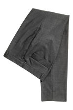 Wool suit trousers Slim fit - Dark grey - Men | H&M CN 2