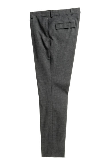 Wool suit trousers Slim fit - Dark grey - Men | H&M CN 1