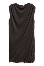 Draped lyocell dress - Dark grey - Ladies | H&M CN 1