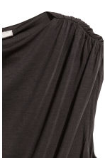 Draped lyocell dress - Dark grey - Ladies | H&M CN 2
